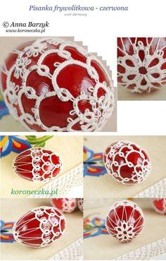 Koroneczka - frywolitki i ceramika: Frywlitkowa pisanka - darmowy wzór