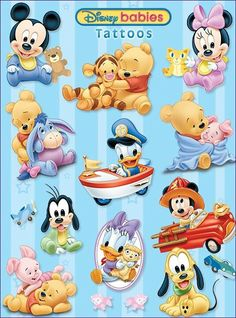 Tigger and Pooh Mickey Mouse Y Amigos, Minnie Y Mickey Mouse, Mickey Mouse And Friends, Disney Mickey, Disney Amor, Arte Disney, Disney Love, Baby Cartoon Characters, Face Characters