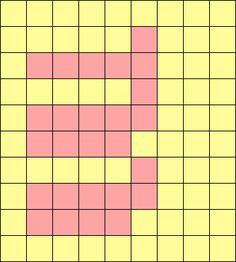 アルファベット小文字mの図案(ミサンガ用)