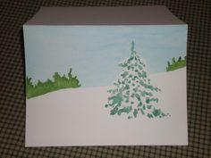 Hand painted Christmas card. $4.50, via Etsy.