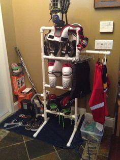Hockey drying rack for equipment #icehockeyequipment