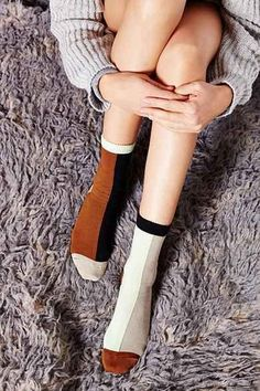 Graphic Socks | Copper, White & Black