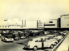 The Crenshaw Shopping Center, circa 1950 or thereabouts. Its known today as Baldwin Hills - Crenshaw Plaza (3650 W Martin Luther King Jr. Blvd.) Bizarre Los Angeles