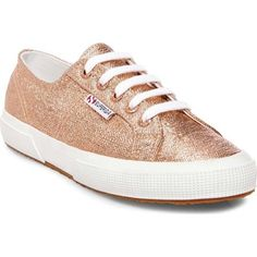 Shop for Superga Women's 2750 Metallic Sneaker Rose Gold Canvas. Get free delivery On EVERYTHING* Overstock - Your Online Shoes Outlet Store! Moda Sneakers, Superga Sneakers, Metallic Sneakers, Lace Sneakers, Lace Up Shoes, Sneakers Fashion, Canvas Sneakers, Gold Canvas, Shoe Deals