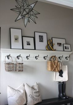"""I´ve pinned this before but I really want this """"hook rack"""""""