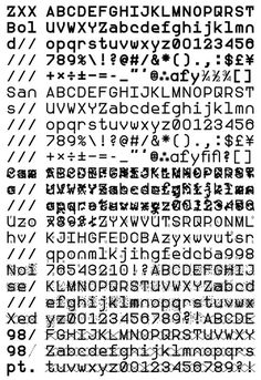 """""""How can we conceal our fundamental thoughts from artificial intelligences and those who deploy them? That's the question that former National Security Agency contractor and recent RISD grad Sang Mun sought to answer with ZXX, a typeface designed to be unreadable by text scanning software."""""""