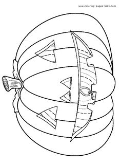 cool halloween coloring pages to print | Pin by spetri.4kids on Coloring 4 Kids: Halloween | Jack o ...