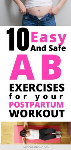 This postpartum workout plan is a perfect way to start repairing your core after pregnancy. This physical therapist explains exactly which exercises to start with at the 6 week postpartum mark. There's even a video to watch, which is really helpful. The ab exercises are easy to do at home (with baby sleeping in the next room!) 😴 Bonus! This workout will definitely help you to get rid of your mummy tummy. #postpartumworkout #forbeginners #csection #postpartumrecovery #postpartumabs #core Postpartum Workout Plan, Postpartum Recovery, Post Baby Workout, Mommy Workout, Best Core Workouts, Core Exercises, Workouts For Teens, At Home Workouts, Post Baby Belly