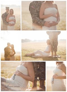 White dress with a set of dogtags? Maybe?   -military maternity normal, IL photographer