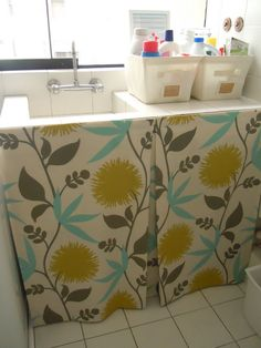 1000+ Images About Under Sink Curtains On Pinterest Sink Skirt . ...