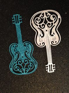 Large Guitar Confetti by IsobelsWish2 on Etsy