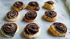 The dough of these rolls is yeast free, requiring neither folding nor proofing. Hungarian Desserts, Hungarian Cuisine, Hungarian Recipes, Hungarian Food, Pastry Board, Sweet Bakery, Croatian Recipes, Dry Yeast, No Bake Desserts