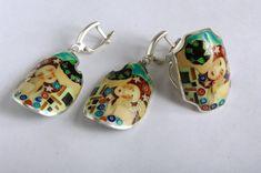 Klimt in cloisonne di artigianato georgiano