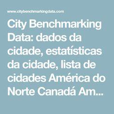 City Benchmarking Data: dados da cidade, estatísticas da cidade, lista de cidades América do Norte Canadá América do Sul Europa Ásia emergente |  City Benchmarking Data por 2thinknow, agência de inovação