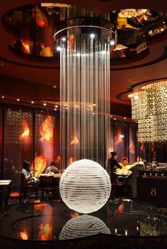 It is Chinese restaurant, but I find this idea great for night club too.