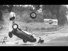 F1 - 1959 Avus GP - Hans Hermann accident. Uploaded on Jan 29, 2012.  The simplistic track consisted of a very fast straight down either side of a dual carriageway, punctuated at one end by a hairpin and at the other by a steep banking. This was the fastest Formula One race recorded at this time, with an average speed of 143.3 miles per hour. Hans Herrmann crashed his BRM P25 five laps into the second heat.