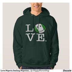 Love Nigeria Smiling Nigerian Flag Hoodie