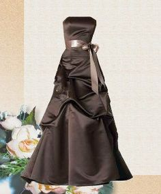 brown and pink brides maid dresses
