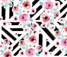 Flowers In Paris fabric by crystal_walen on Spoonflower - custom fabric