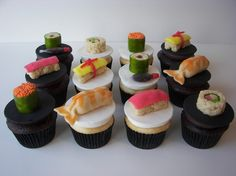 Candy Dessert Sushi Cupcake Toppers