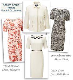 Viyella Shift Dresses and Cream Cropped Occasion Jacket
