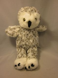 80947839a5d Build A Bear Snowy White Spotted Owl Rotating Head Plush Stuffed Animal BAB  Spotted Owl