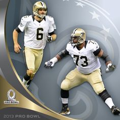 Congrats to Jahri Evans and Thomas Morstead on being named to the 2013 Pro Bowl!
