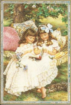 Girls in Hammock by Sandra Kuck