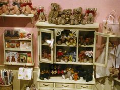 details of miniature teddy bear shop, Izu Teddy Bear Museum, Japan