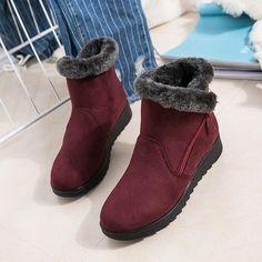fa6d73c318b76e Women s Waterproof Rain Warm Fur Footwear Ankle Boots