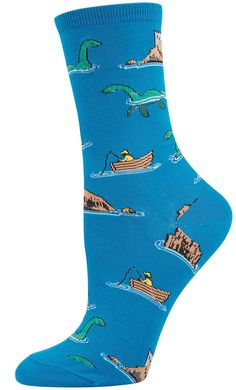 Loch Ness women's novelty socks by Socksmith