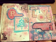 Side by side pages - art journal - #newb