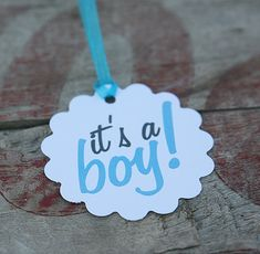 Tags  It's a Boy by CaffeinatedSquirrel on Etsy