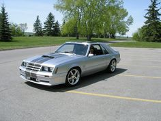 1982 Mustang GT - I used to draw something like this all the time as a kid. Got it from watching M.K cartoon in the Good times Ford Mustang Fox Body, Mustang Cars, Ford Mustang Gt, Us Cars, Sport Cars, Car Man Cave, Classic Mustang, Automobile, Ford Fairlane