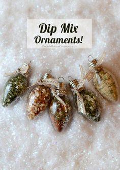 Rusted Treasure: DIY Dip Mix Ornaments