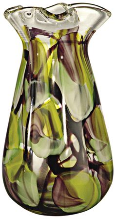 Dale Tiffany North Shore Tall Hand-Blown Art Glass Vase -