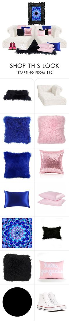 """""""SleepOver lounge😛"""" by kitty-ma ❤ liked on Polyvore featuring interior, interiors, interior design, home, home decor, interior decorating, PBteen, JAG Zoeppritz, Alexandra Ferguson and Wall Pops!"""