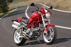 Ducati Monster S2R. Can't believe I actually used to own one of these (in red and white, too).
