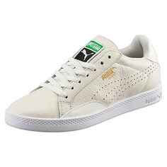 <p>The Match comes from a long line of tennis shoes. It takes cues from PUMA's 1970s tennis collection (all sleek leather uppers, clean lines, and killer backhands)...and holds its own off the court with modern good looks and distinctive swagger. Game, set, match.</p><p>Features:</p><ul><li>Leather upper with nubuck overlays</li><li>Lace closure for a snug fit</li><li>Cushioned midsole for comfort and support</li><li>Rubber outsole for grip</li><li>PUMA Match callout in metallic foil at…