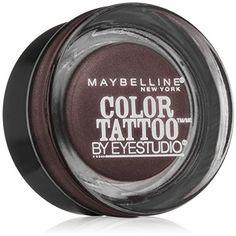 Maybelline New York Eye Studio Color Tattoo Leather 24 HR Cream Gel Eyeshadow, Vintage Plum, 0.14 Ounce