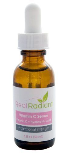 Vitamin C Serum with Hyaluronic Acid Serum for Your Face - Anti Wrinkle Cream, Anti Aging Cream and Reduction of Sunburnt Cells - Get Real Radiant Skin with the Best Vitamin C Serum Available! Great Stocking Stuffer!