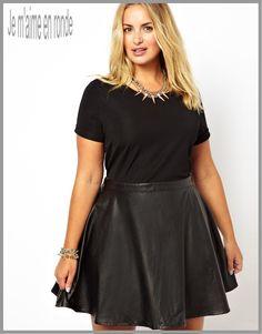 7cc959d9da0a Jouez l élégance et le style avec des robes pour femme ronde en simili cuir.  Mode PlusMode Pour Les RondesRobe Femme RondeRobe Grande TailleJupe ...