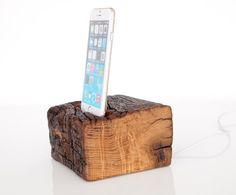 iPhone docking station - iPod touch Dock - for iPhone 4 / 4S / 5 / 5C / 5S / 6 / 6 plus - barnwood
