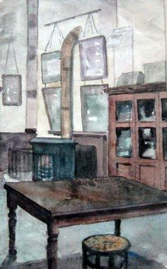 Elwin Hawthorne - The Art Classroom - 1929 London Art, East London, Bow Art, Art Classroom, Art Projects, Greeting Cards, Pure Products, History, Art Interiors