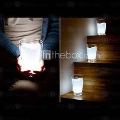 de plástico blanco taza de leche llevó luz de la noche
