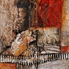 mixed media op doek 20 x 20 cm gerardbrokART