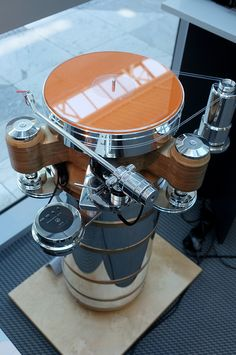 Acoustic solid turntables at High End Munich 2016 show.