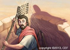 Gideon Learns to Be Bold for God Kids Church Lessons, Bible Lessons, Learning To Be, God Is Good, Illustration, Faith, Battle, Stage, Fictional Characters