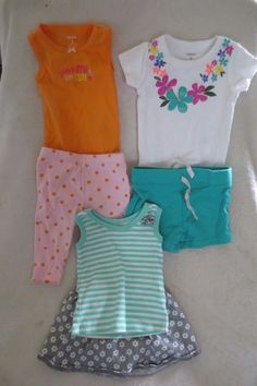 7a7aad5592eb Carter's/Vitamins Baby Girl Lot Clothing Short Set Skirt Size 3 Months  #CartersVitaminsBaby Carters