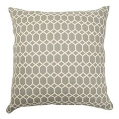 Packard Diamonds Pillow Flint The Pillow Collection Accent Pillows Throw Pillows Bedding :: $40